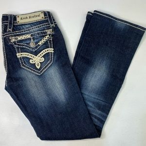 ROCK REVIVAL JEANS ELAINA BOOT SIZE 25